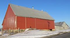 Three Bay Barn (Buffalo County, Wisconsin) (courthouselover) Tags: wisconsin wi barns farms buffalocounty