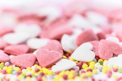 Love Love Love Love Love (PokemonaDeChroma) Tags: happy10years macromondays sugar pearl heart shape confetti macro canon eos 6d sigma 150mm sucre coeur forme ball soft hmm hbmm