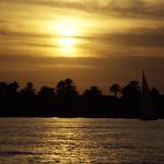 Ägypten 1999 (767) Luxor: Sonnenuntergang am Nil thumbnail