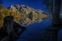 reflection - Jenny Lake - Grand Teton NP  02 (Tucapel) Tags: grandteton nationalpark jenny lake wyoming morning dawn reflection