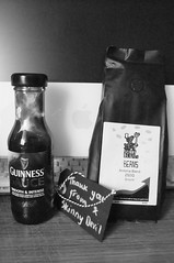 Thought this might look better in black and white (Chris Hester) Tags: 10010 apple imac guinness sauce skinny devil coffee