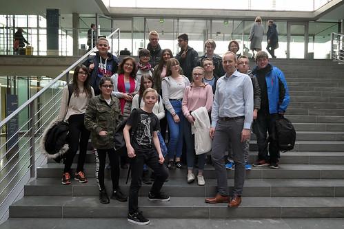 Schüler vom Landesbildungszentrum für Hörgeschädigte in Oldenburg haben mich in Berlin besucht.
