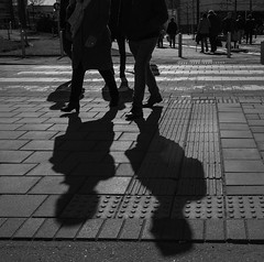 There's two of them  *Explored* (weerwolfje) Tags: odc theres two them street shadows bnw streetphotography