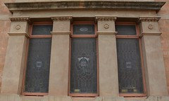 Stained glass memorial windows of Soldiers' Memorial Hall, Gladstone, South Australia (contemplari1940) Tags: stained glass windows gladstone soldiers memorial hall roll honour sirtombridges pirie excelsior band