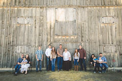 the whole fam (KieraJo) Tags: wide angle canonef24mmf14liiusm l lens canon 5d mark 3 iii 5d3 fullframe dslr extended family photo session american west heritage center cache valley utah logan wellsville barn wood doors grandparents adult children posing full sunlight shoot shade lighting fun