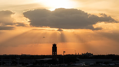 The sun sets for another year (atcogl - ATC @ YYZ) Tags: fll kfll ftlauderdale florida usa unitedstates america hollywoodairport aircraft airliner airplane aeroplane jet plane aviation avion flugzeug airport tower sunset sky clouds controltower canon eos 5dmarkiv tamron 150600f563divcusdg2