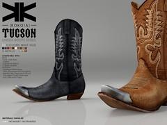 Tucson :: Unsex Boots :: 10 Colors ({kokoia}) Tags: kokoia tucson cowboy cowgirl west boots boot shoes adam slink classic avatar mesh belleza signature maitreya eve themeshproject tmp man men woman oeste camperas botas unisex