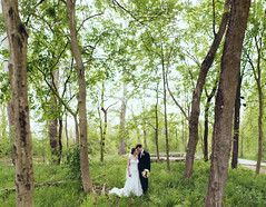 Love in a Forest (MightyBoyBrian) Tags: wedding ohio panorama stitch pano delawareohio brenizer 50mmf12 21images canon5dmark3 jonandlacey