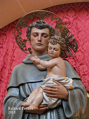 Saint Anthony of Padova (fajjenzu) Tags: sculpture church statue feast faith religion malta spirituality convent friar franciscan saintanthony birkirkara