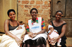 Nanyanzi Harriet with two mothers of newborns