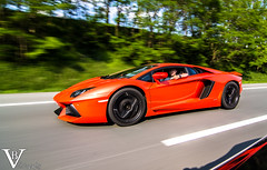 Aventador (Vincent Blanco) Tags: orange cars blanco photography italian highway automobile vincent ferrari bulls lp lamborghini arancio supercar f430 argos pog santagata 700hp 7004 700ch aventador