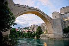 Stari Most - Mostar, Bosnia and Herzegovina (alyssaapplebaum.com) Tags: old bridge summer night clouds mostar bosnia most abroad herzegovina stari starimost oldbridge