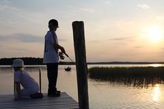 finnishness (lasilinssi) Tags: sunset summer fishing midsummer cottage juhannus kesämökki auringonlasku suomalaisuus finnishness kalastaminen