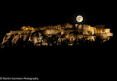 The Acropolis with the Supermoon (Garnham Photography) Tags: moon architecture night dark greek ruins athens historic fullmoon parthenon greece moonlight astronomy column acropolis touristattractions greektemple akropolis moonsurface traveldestinations supermoon