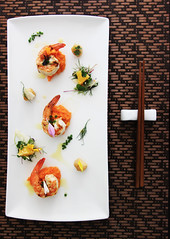 (Emma Choo) Tags: orange composition dill healthy display herbs shrimp bbq gourmet yam homemade basil citrus scallop saffron garnish seared edibleflowers foodtography garlicbutter goatfetacheese emcphotography vancouverfoodie