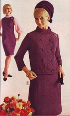 Spiegel 67 fw purple suit (jsbuttons) Tags: fashion vintage clothing mod buttons spiegel skirt clothes suit jacket 1967 catalogs doublebreasted