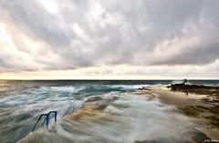 La Escalera (Legi.) Tags: longexposure sea seascape clouds mar nikon cloudy sigma nubes nublado 1020 torrevieja marmediterráneo largaexposición cabocervera d5100