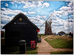 Horsey Windpump (PhilnCaz) Tags: holiday history windmill nt scenic historic nik nationaltrust picturesque greatyarmouth processed hdr highdynamicrange horsey e5 summerholiday windpump norfolkbroads tonemapped thenationaltrust efex niksoftware horseywindpump olympuse5 silverefex philncaz