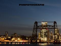 The hef bridge (PvB Fotografie) Tags: city water night de rotterdam fotografie nightshot avond maas stad noordereiland hef avondfotografie pvb nightfotography pvbfotografie