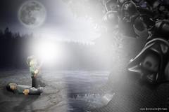 """Expecto Patronum!"" (Automaton Pictures) Tags: pictures black toy lego magic harry potter spell sirius minifig prisoner azkaban automaton minifigure dementor autopic expecto patronum legography"