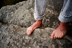 (Jacob Seaton) Tags: camping boy man mountains feet forest nationalpark blood woods rocks cut hills bleeding shenandoah cuts skylinedrive seanseaton