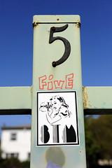 FIVE, STM (STILSAYN) Tags: california graffiti oakland bay five east area stm 2013