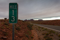 13th mile maker (s__i) Tags: utah monumentvalley milemarker13