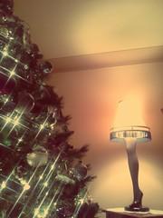 christmas tree and leg lamp. december 4th 2013 (timp37) Tags: christmas xmas chicago tree lamp illinois december seasons leg greetings merry fragile 2013