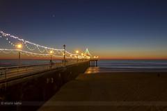 Manhattan Beach (sathellite) Tags: california christmas sunset pier losangeles holidays venus newyear manhattanbeach happyholidays seasonsgreetings 2014 blinkagain