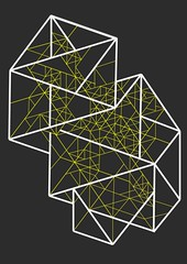 quasi-yellow (B a s t i a n o) Tags: abstract yellow drawing geometry structure illustrator vector wireframe goldenratio quasicrystal