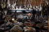 Dried fish seller (Lil [Kristen Elsby]) Tags: portrait southeastasia market burma topv5555 editorial myanmar vendor dailylife topf100 driedfish rakhine environmentalportrait fishstall travelphotography sittwe morningmarket environmentalportraiture rakhinestate sittway sittwemarket canon5dmarkii myanmar2013