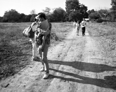 Dirt Road (Spaceball Ricochet (not busy at all...)) Tags: california bw white black art film monochrome speed mono losangeles kodak tmax dam basin iso bronica 100 performanceart asa sepulveda sqai confusionissex cis3