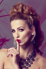 Hannah Dixon Shhhhhhh it's Purple (TrevorDaviesPhotography) Tags: fashion hair studio purple shot head royal style leamington spa