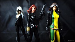 Black Cat, Black Widow and Rogue - Marvel Ladies (Gui Lopes BH) Tags: ladies girls black classic cat comics miniatures action statues collection xmen heroes heroin rogue figurine marvel universe widow panini figures avengers miniaturas eaglemoss guilopesbh