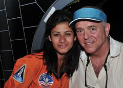 Cast member Sara Hoteit with Director and Executive Producer Jerome Gary at Space Camp in Huntsville, Alabama