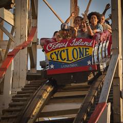 Beyonce on the Cyclone, Square Version (slightheadache) Tags: music beach brooklyn coneyisland xo lunapark rollercoaster coney cyclone beyonce terryrichardson beyonceknowles cyclonerollercoaster beyoncexo