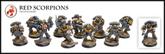 Red Scorpions Tactical squad (Relaxdesign Minis) Tags: 40k warhammer gamesworkshop redscorpion spacemarine tacticalsquad forgeworld redscorpions