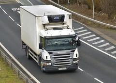 MX05 YYF (Cammies Transport Photography) Tags: family truck edinburgh lorry dairy grahams newbridge flyover scania m9 the p230 mx05yyf