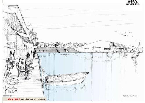 Skica budućeg turističkog kompleksa.
