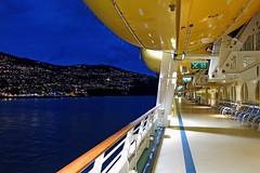 """Pre-Dawn Deck"" - Approaching Funchal, Madeira (Portugal) (TravelsWithDan) Tags: ocean portugal night island atlantic cruiseship predawn madeira funchal marineroftheseas aboardship shipdeck royalcaribbeancruiselines"