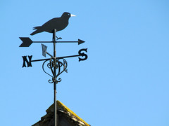 As the crow flies (pefkosmad) Tags: roof bird weather village wind cotswolds gloucestershire crow vane sundaydrive beverston