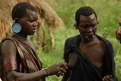 Scarification. Surma (vgundarev) Tags: africa expedition tribes ethiopia