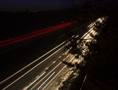 A55 Light Trails (Rachael Webster UK) Tags: road light red white motion colour yellow speed canon timelapse movement time trail busy shutter lighttrail 650d canon650d