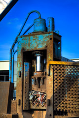 Guillotine (-BigM-) Tags: metal photography rust iron fotografie rusty baden rost scrap kreis schrott eisen bigm wrttemberg gppingen