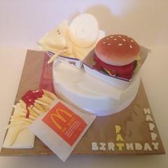 McDonalds Cake (Nicole (SeizeTheCake)) Tags: birthday burger mcdonalds fries 15th maccas