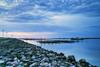 a cloudy sunset (Thunderbolt_TW) Tags: sunset sea sky sun reflection water windmill canon landscape dusk taiwan 夕陽 台灣 日落 風景 windturbine 彰化 changhua 風車 彰濱 西濱 肉粽角 彰濱工業區 風景攝影 hsienhsi 線西 changpingindustryarea