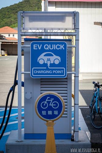 Punt ładowania elektrycznych samochodów