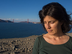Contemplation at Eagle Point Labyrinth (eekim) Tags: sanfrancisco california us unitedstates goldengatebridge landsend photoaday labyrinth day216 365project eaglepointlabyrinth