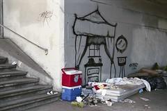 The idea of a bedroom (Under the 101) (ADMurr) Tags: leica film la kodak homeless under 101 mattress ektar spraypaintbedroomimage