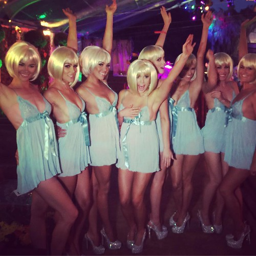 The ladies rocked those blonde wigs last night at the Midsummer Night's Dream event! #msnd #playboy #events #eventlife #models #wigs #200ProofLA #200Proof